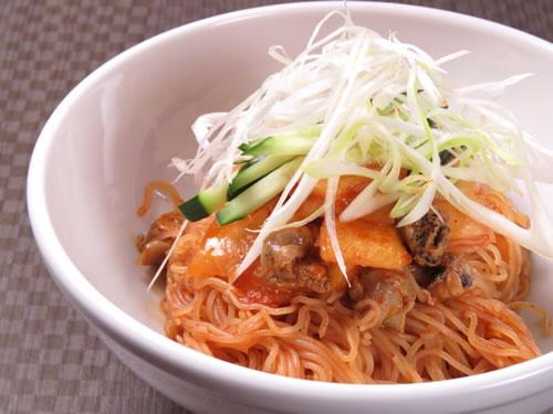 つぶ貝のビビン麺