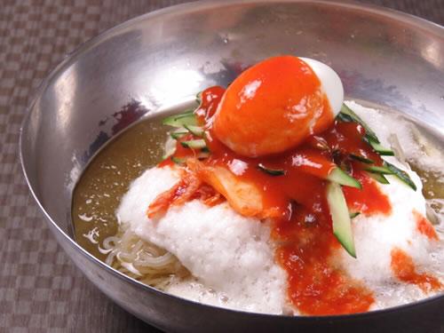 梅とろろ冷麺
